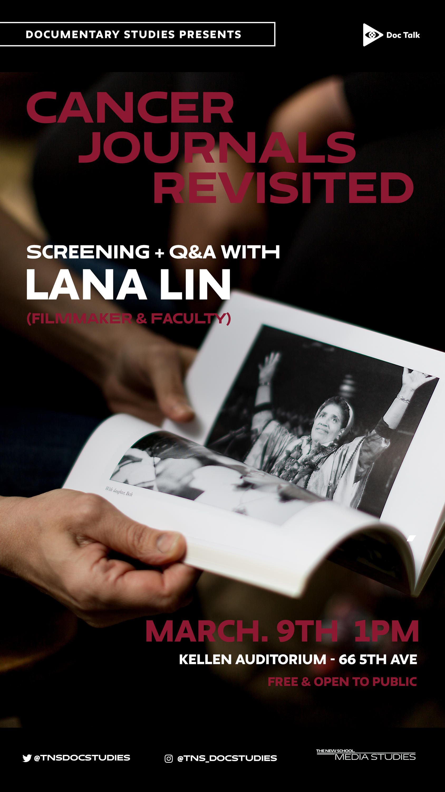 Doc Talk: Cancer Journals Revisited with Lana Lin