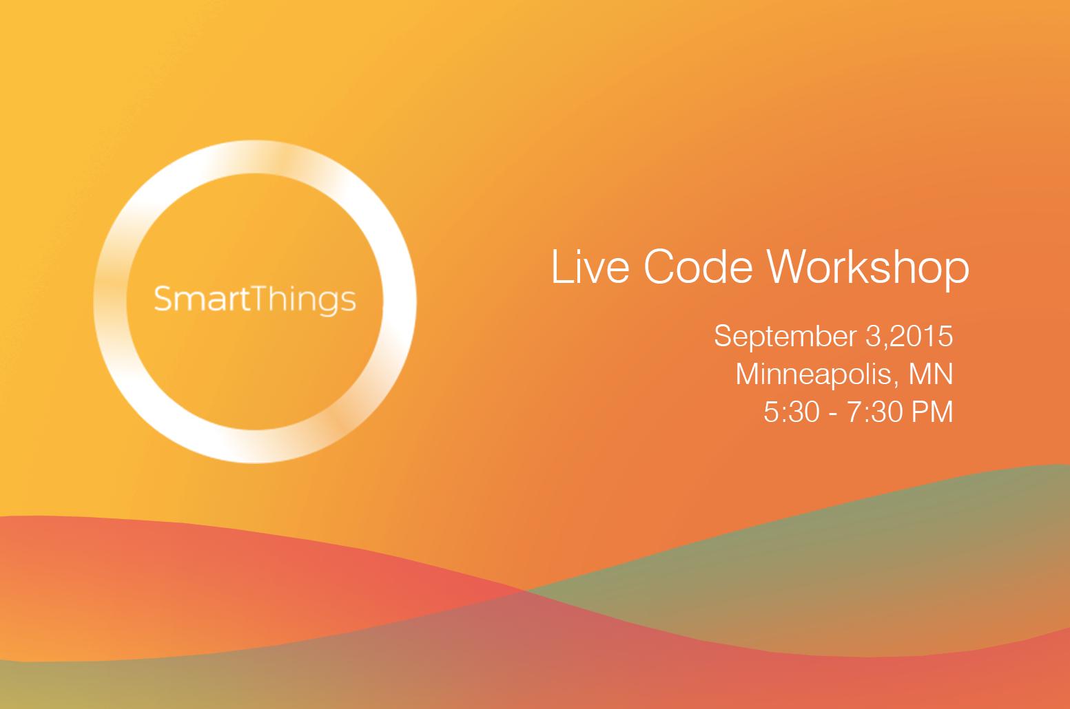 SmartThings LiveCode Workshop - Splash
