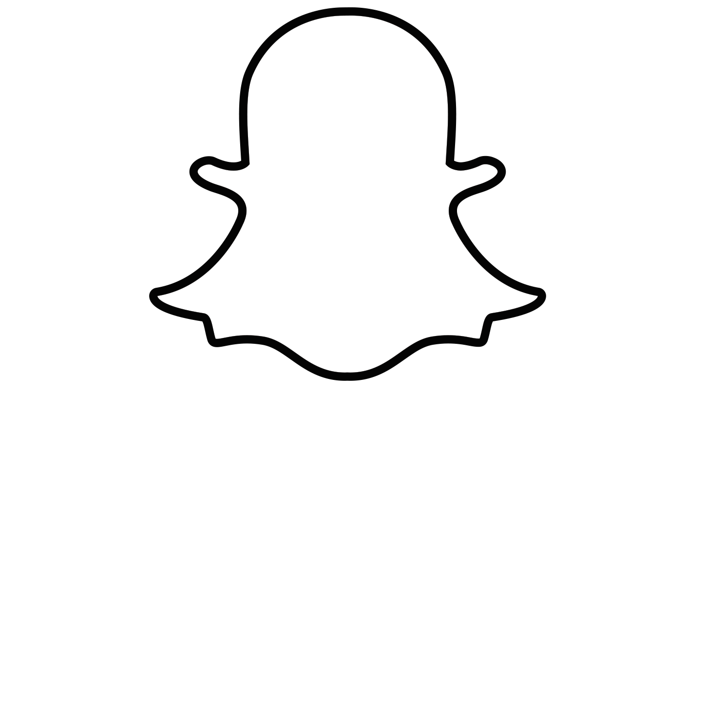 Black And White Snapchat Logo Pictures to Pin on Pinterest ...
