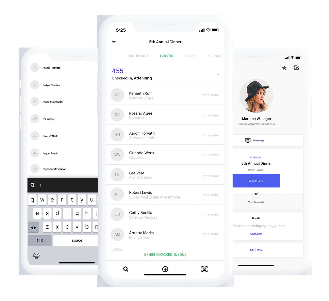 Mobile Event Check-in App - Splash