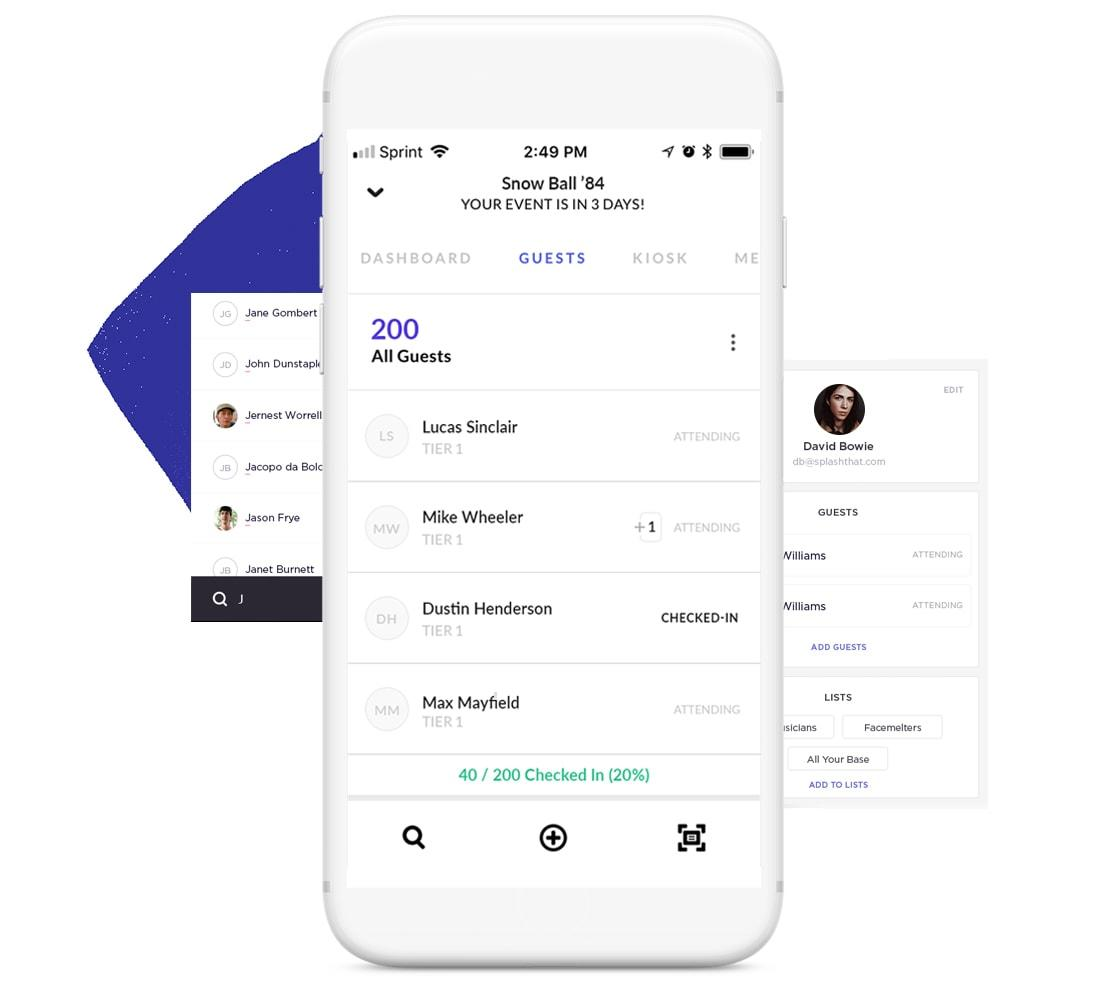 mobile event check in app splash