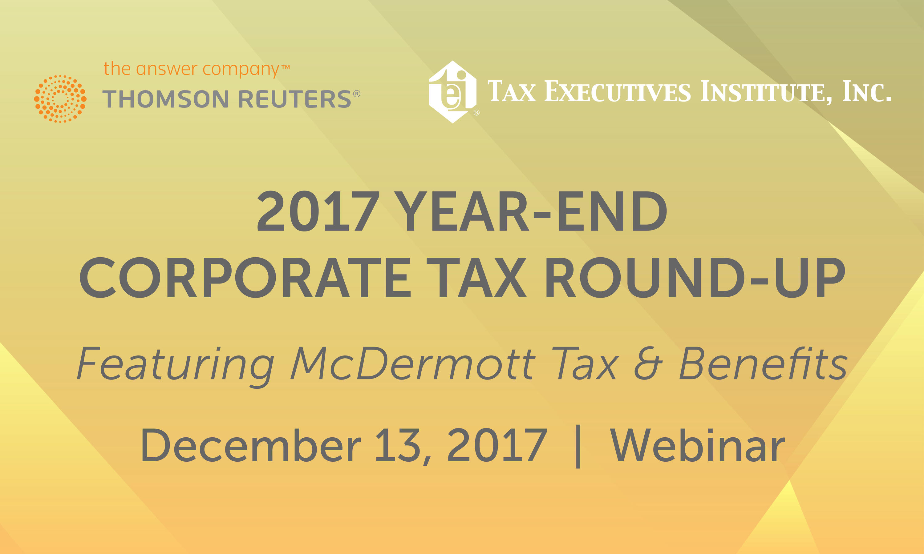2017 Year-End Corporate Tax Round-Up