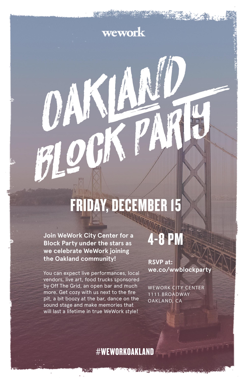 WeWork Oakland Block Party