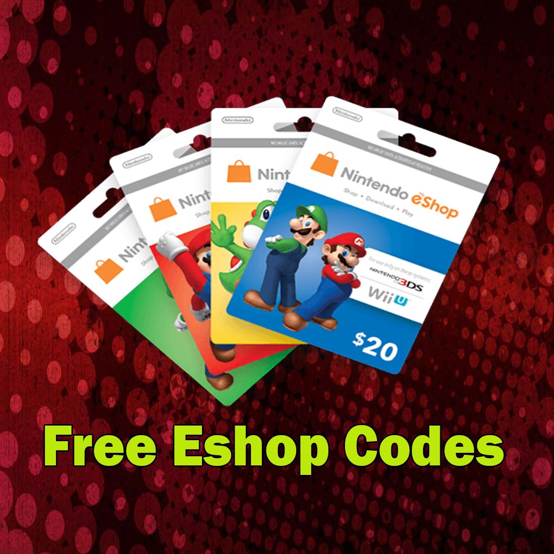 Free Nintendo Eshop Codes Generator - Nintendo Switch 3DS