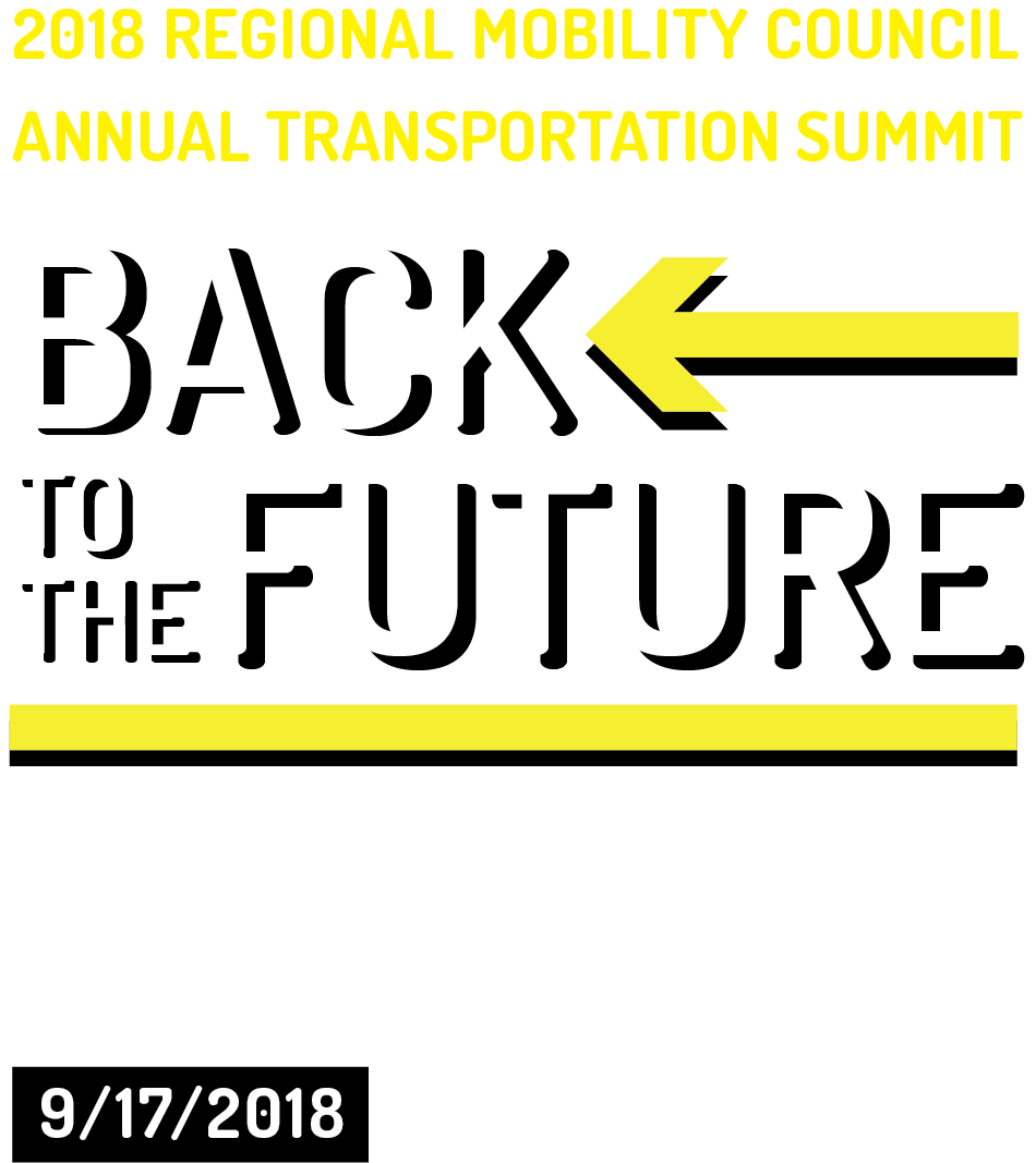 "2018 Regional Mobility Council Annual Transportation Summit ""Back to the Future: Burgeoning Technologies in Transportation"" Happening September 17 2018. Sponsored by AARP Kentucky, APCD Louisville Metro, Gresham, Smith and Partners, Harbor House of Louisville, HDR, KIPDA, LifeSpace Resources, Office for Aging/Disabled Citizens, QK4, TARC, and Wheels"