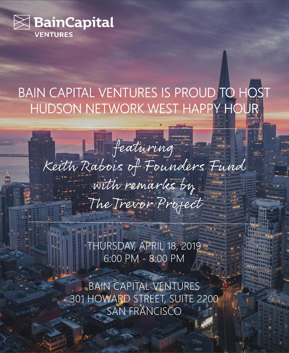 Bain Capital Ventures + Hudson Network West Happy Hour - Splash