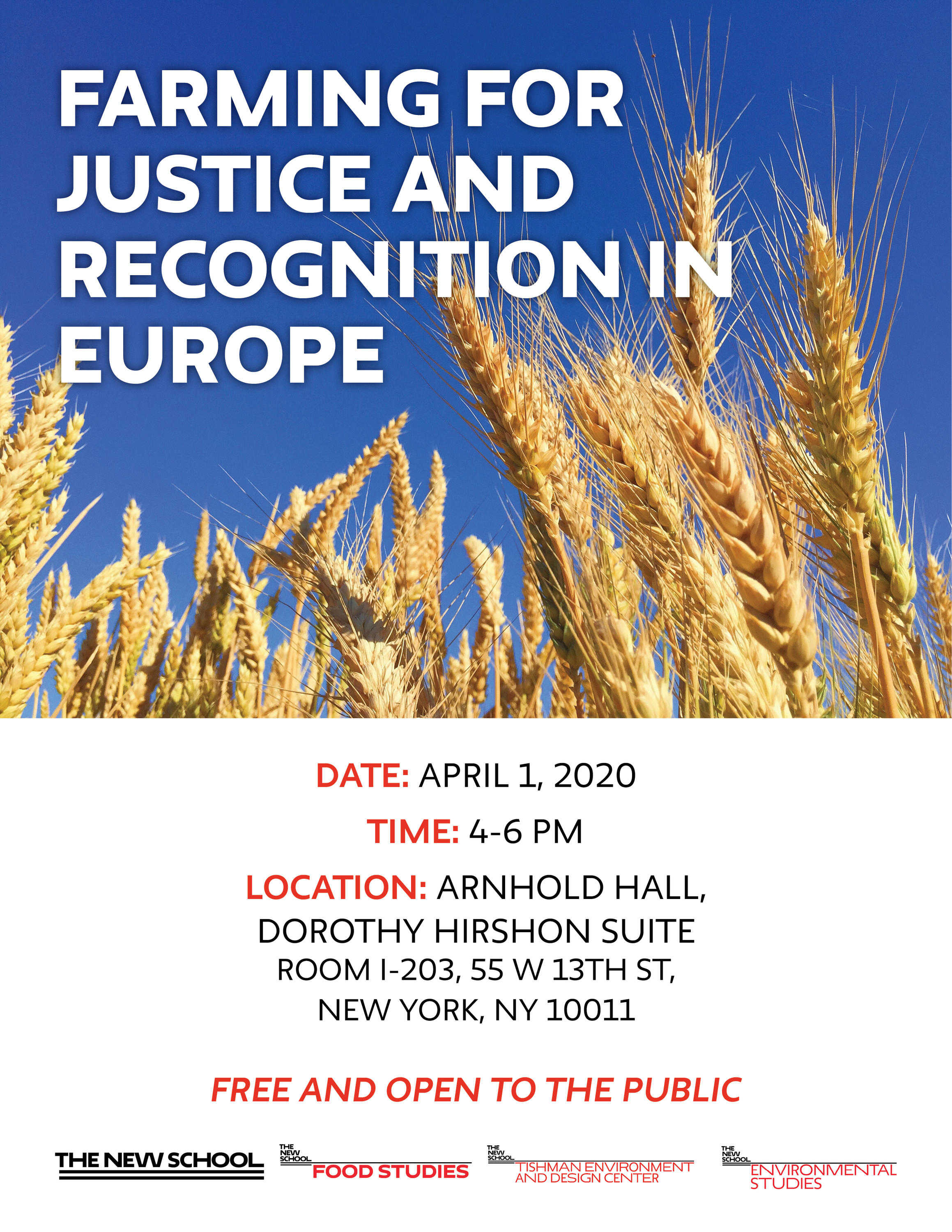 POSTPONED: Farming for Justice and Recognition in Europe