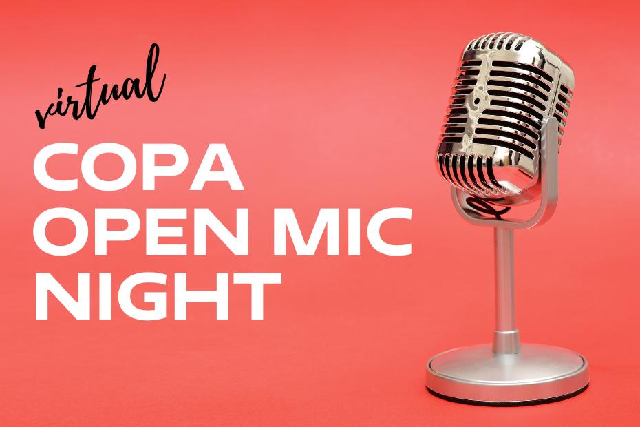 ONLINE | Virtual Open Mic Night