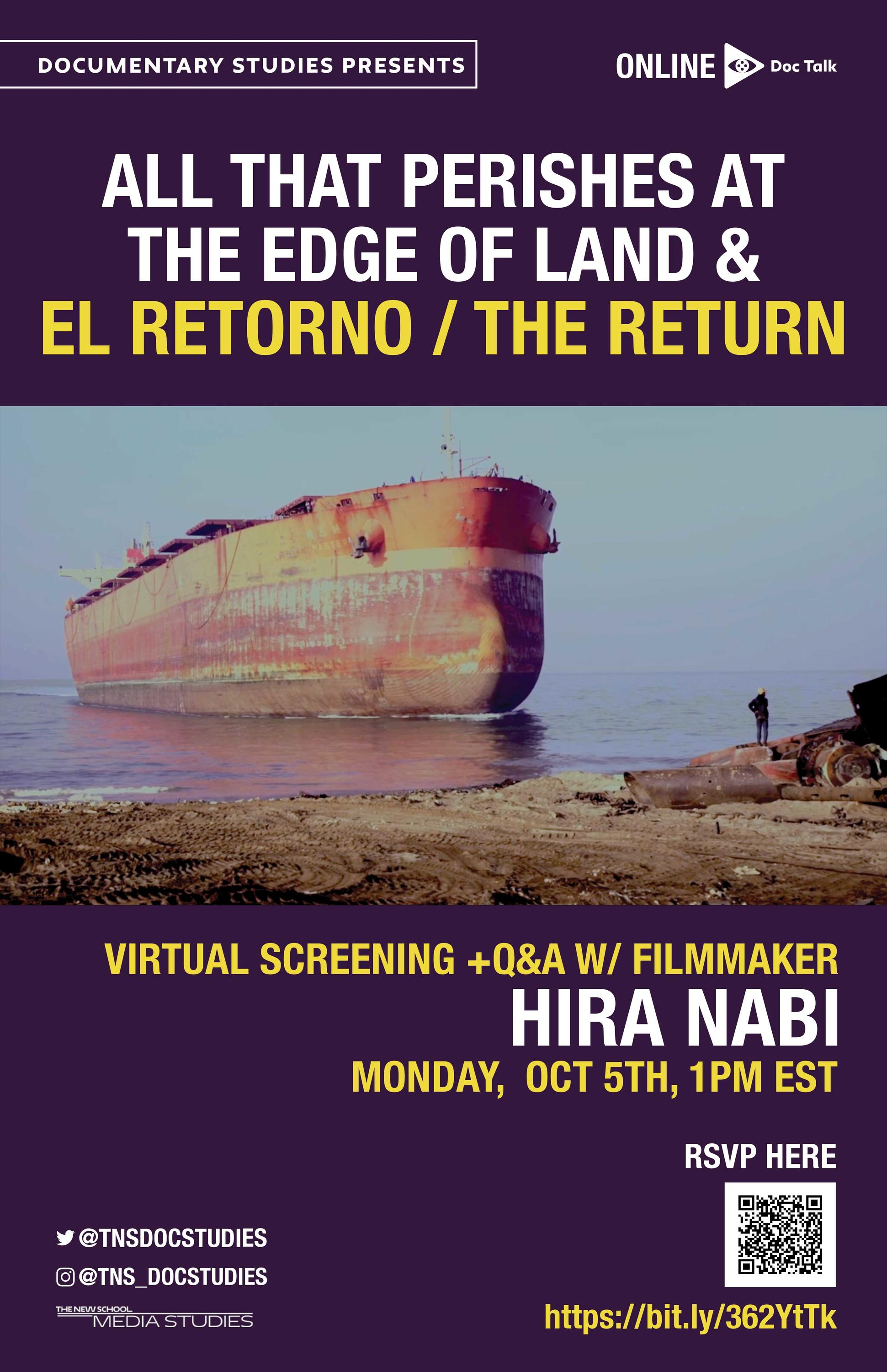 ONLINE | Doc Talk: All That Perishes At The Edge of Land & El Retorno/The Return