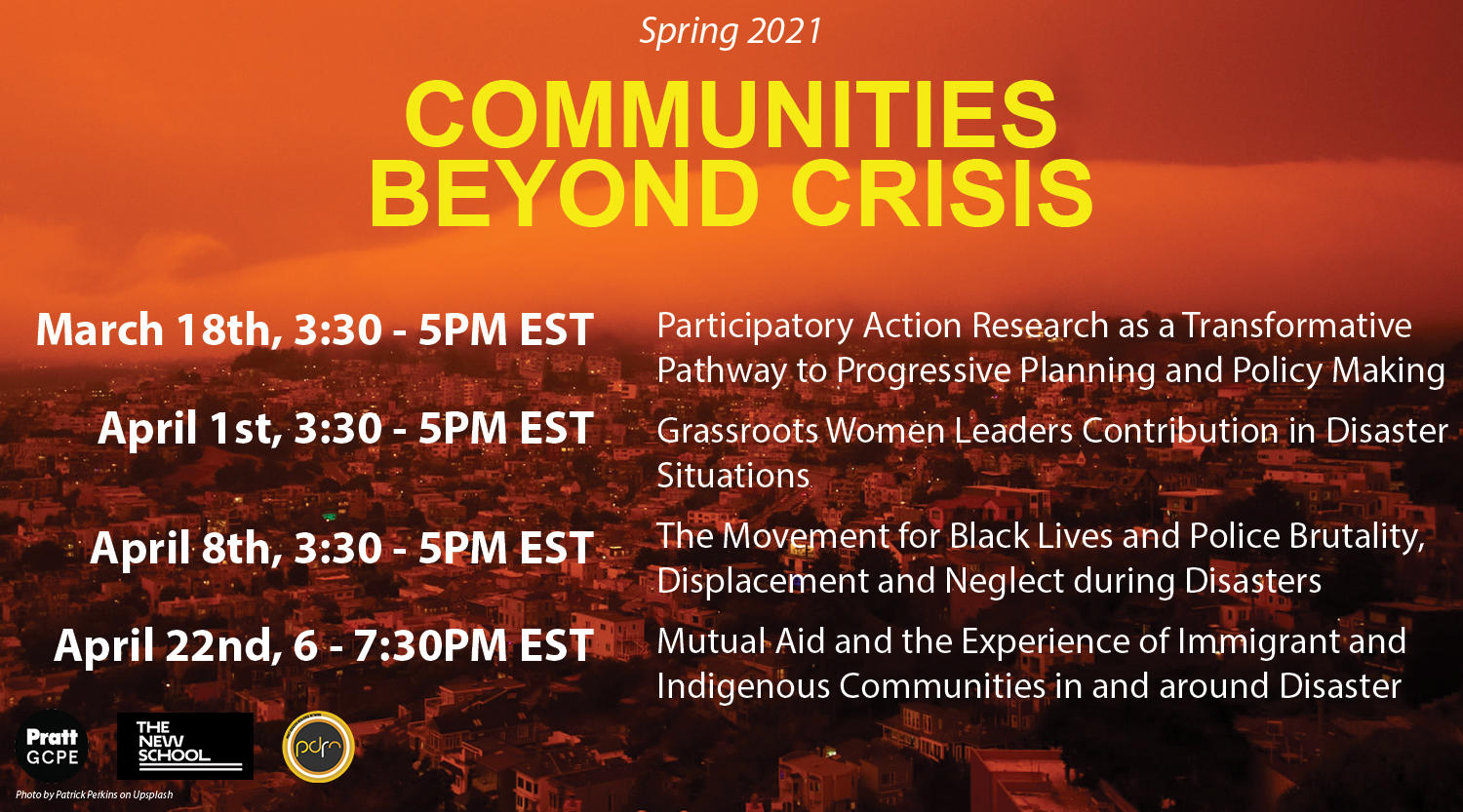 ONLINE   Communities Beyond Crisis: Grassroots Women Leaders' Contributions in Disaster Situations