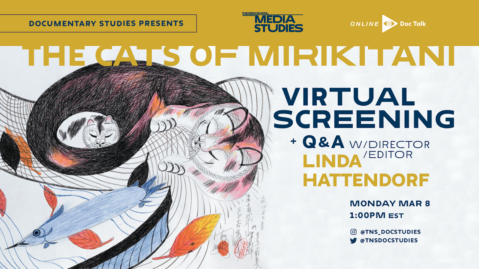 ONLINE | Doc Talk: THE CATS OF MIRIKITANI, Screening and Q&A with Linda Hattendorf